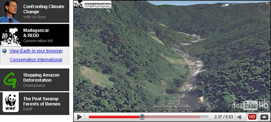 Deforestation in Google Earth