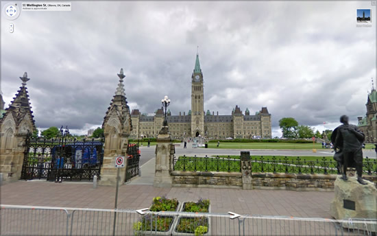 Canadian Parliment in StreetView