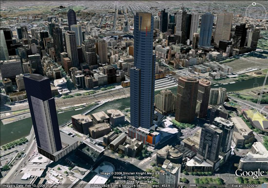 Melbourne Australia in 3D