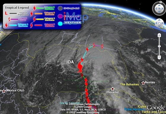 Track Hurricane Ida In Google Earth Google Earth Blog - World satellite images live