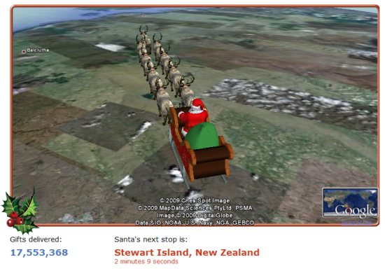 SANTA TRACKER was amazingly popular | Google Earth Blog