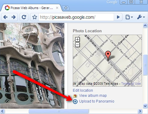 Upload images to Panoramio