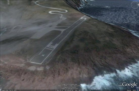 Scary airport on Saba