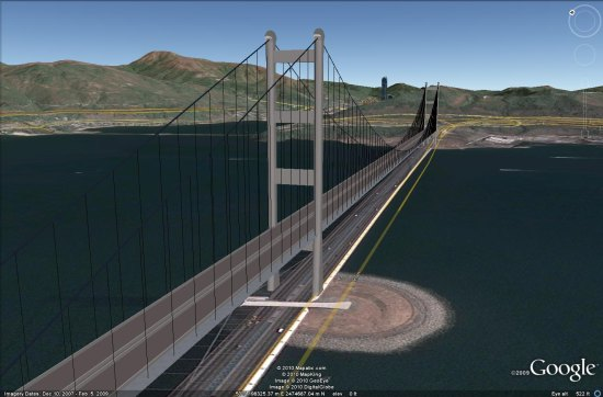 The Longest Suspension Bridges In The World Google Earth Blog - Longest bridge in the usa