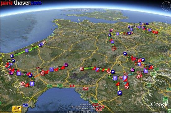 recorrido del Tour 2010