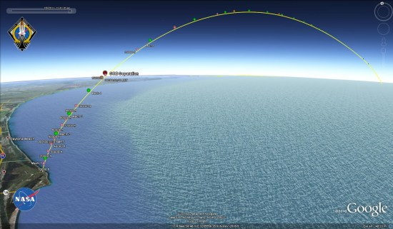 Tracking the Space Shuttle in Google Earth - Google Earth Blog