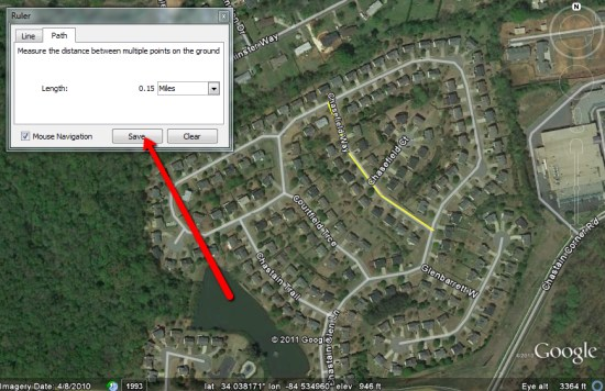Measuring Distances With The Google Earth Ruler Google Earth Blog - How to determine elevation on google maps