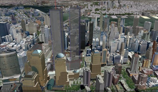 Map Of World Trade Center Before 9 11.Remember 9 11 With Google Earth Part 1 The Past My Google Map Blog