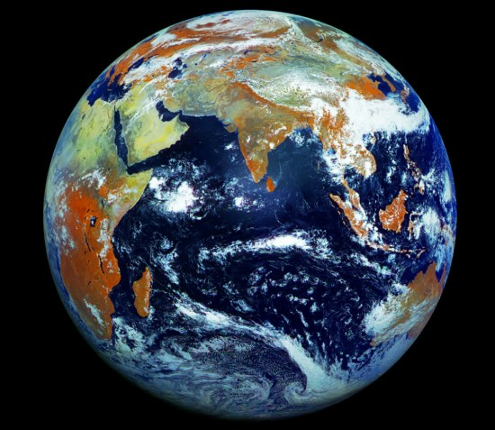 satellite map of the earth in real time