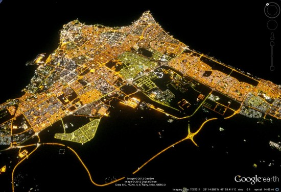 Viewing city lights in google earth google earth blog you can view it yourself in google earth by using this kml file gumiabroncs Gallery