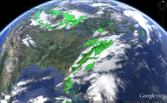 Tracking The Weather With Google Earth Google Earth Blog - Live weather satellite images