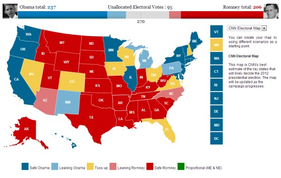 Mapping The US Presidential Election My Google Map Blog - Voting maps us presidential elections