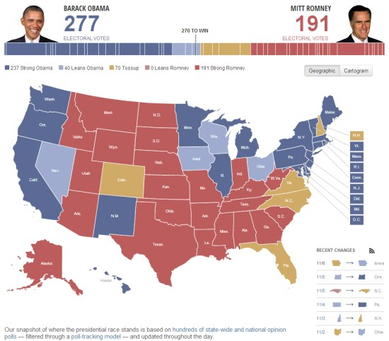 Mapping The US Presidential Election Google Earth Blog - Huffington post us election map