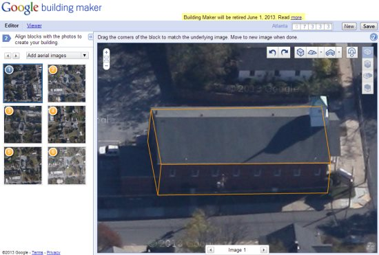 Google will be discontinuing the building maker tool 3d model house maker
