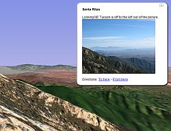 Arizona Hike Backpacking RoboGEO GPS tagging in Google Earth