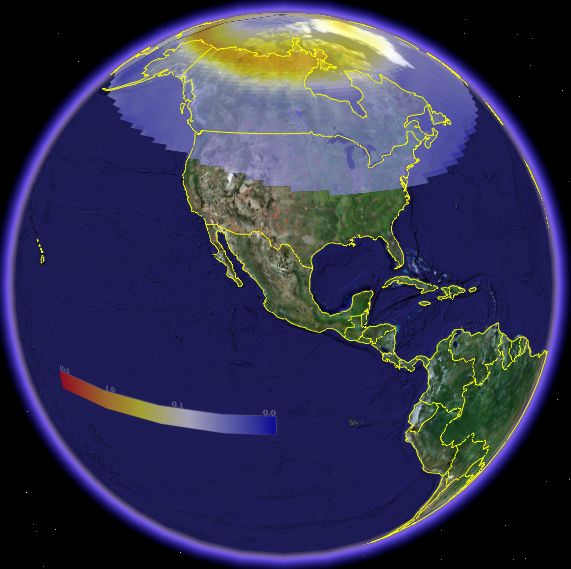 Aurora Viewing Map in Google Earth Google Earth Blog