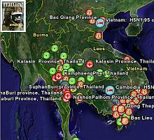 Avian Flu outbreak map in Google Earth