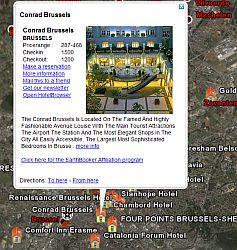Earthbooker hotel locations in Google Earth
