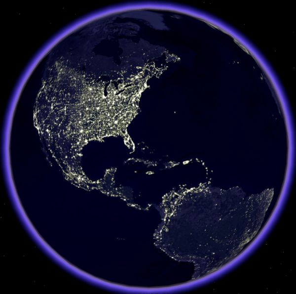 planet earth from space at night - photo #11