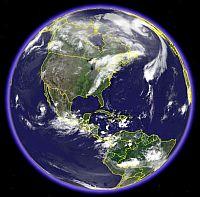 Global Cloud Map in Google Earth