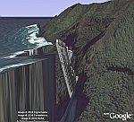 Cruise Ship Crash in Google Earth