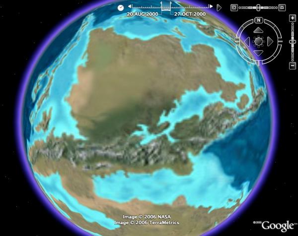 tectonique des plaques / dérive des continents / Plaques océaniques Paleogeographic