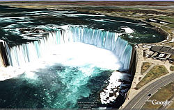 Cataratas del Niágara en Google Earth