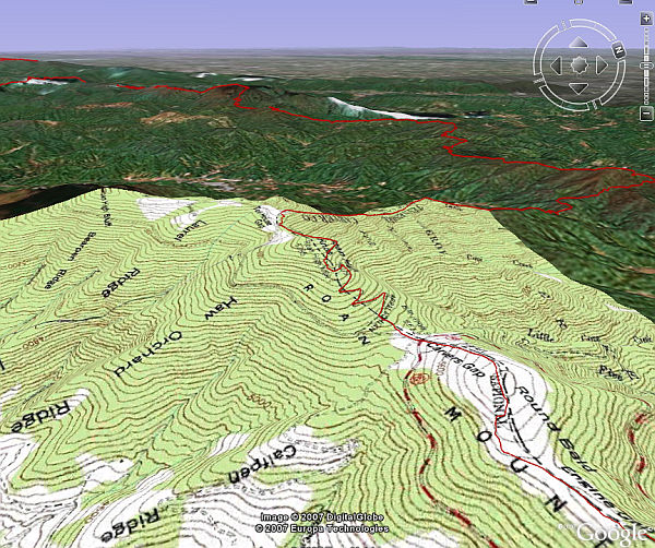 Appalachian And Pacific Crest Trails In Google Earth Google Earth Blog - Google maps topo