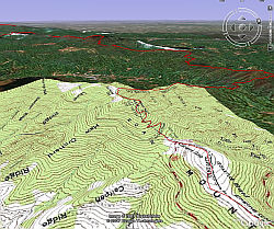 Appalachian Trail in Google Earth