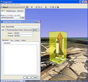 Collada models from 3DWarehouse in Google Earth