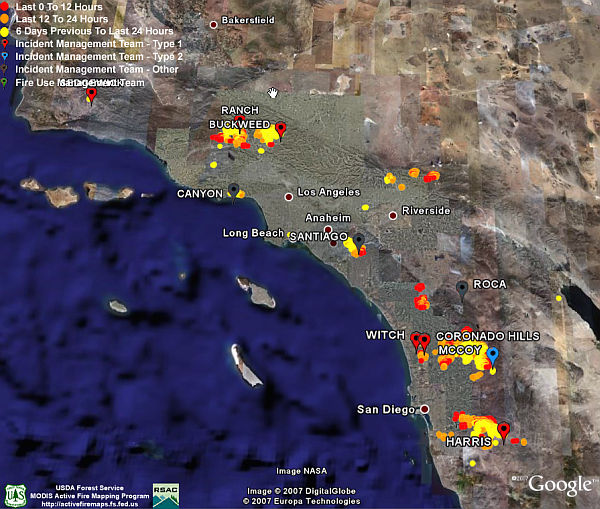 California Fires Satellite Photos Fire Data In Google Earth - Us active fire map