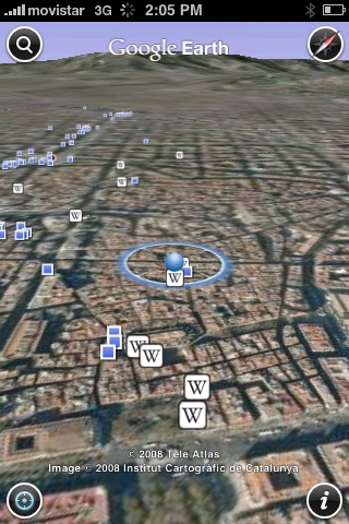 Google Earth en el iPhone