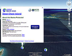 Marine Protected Areas worldwide in Google Earth
