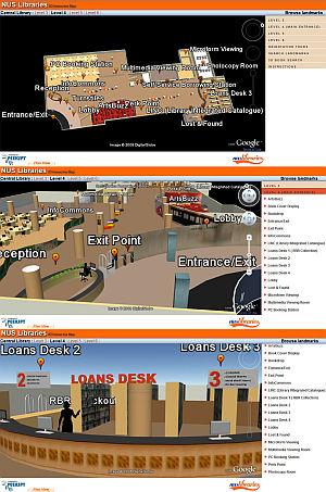 NUS Library in Google Earth Plugin