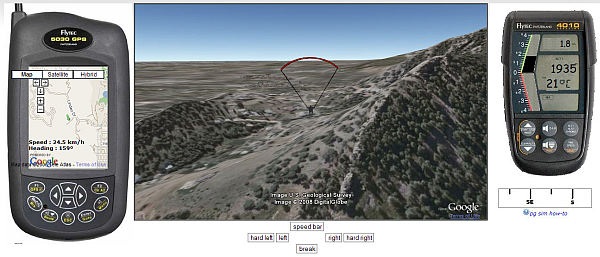 Simulador de Parapente con Google Earth Plugin