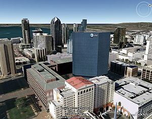 San Diego in 3D in Google Earth
