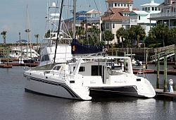 Picture of our sailing catamaran Tahina