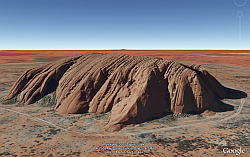 Uluru (Ayer's Rock) in Google Earth