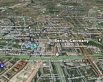 Berlin con capas en Google Earth