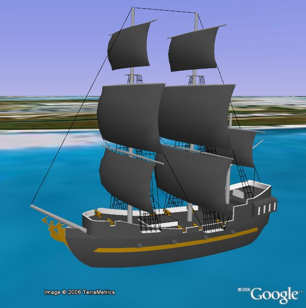 Black Pearl in 3D in Google Earth  Google Earth Blog