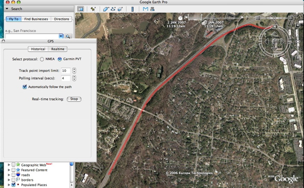 Using GPS In Realtime With Google Earth Google Earth Blog - Real time maps google earth