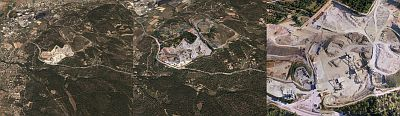 Aerial drone photo in Google Earth