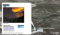 Discovery Sunrise Earth in Google Earth