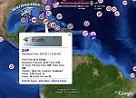 NOAA volunteer observing ship weather data from DestinSharks.com in Google Earth