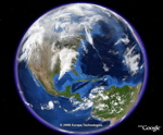 Blue Marble and clouds in Google Earth