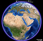 Animación Blue Marble en Google Earth