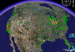 EPA Air Quality Index in Google Earth