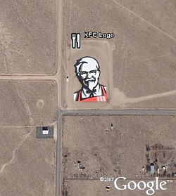 KFC logo in Google Earth