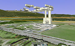 Large Hadron Collider in Google Earth