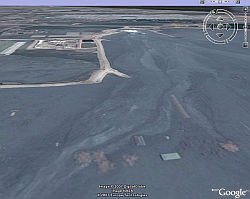 Sidgoarjo mud flow in Google Earth